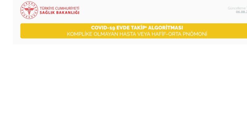 COVID-19 EVDE TAKİP  ALGORİTMASI KOMPLİKE OLMAYAN HASTA VEYA HAFİF-ORTA PNÖMONİ 06.08.20