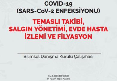 COVID-19 (SARS-CoV-2 ENFEKSİYONU) TEMASLI TAKİBİ, SALGIN YÖNETİMİ, EVDE HASTA İZLEMİ VE FİLYASYON 25.11.2020