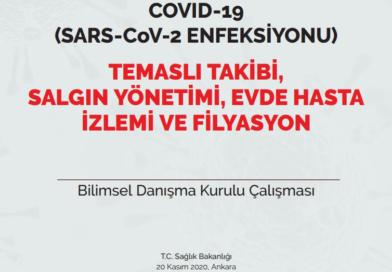 COVID-19 (SARS-CoV-2 ENFEKSİYONU) TEMASLI TAKİBİ, SALGIN YÖNETİMİ, EVDE HASTA İZLEMİ VE FİLYASYON 20.11.2020